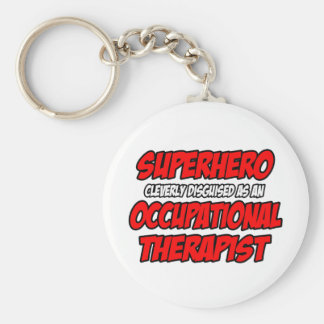 Superhero...Occupational Therapist Basic Round Button Key Ring