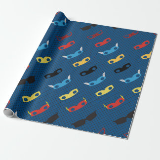 Superhero paper, mask, hero wrapping paper