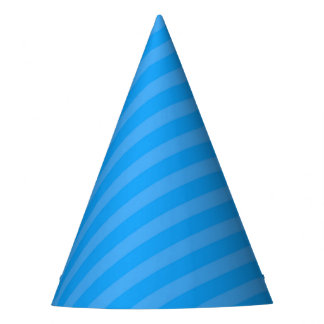 Superhero Party Hat - Blue Stripe
