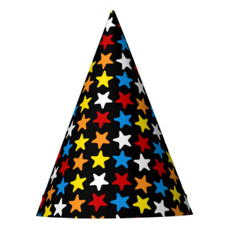 Superhero Party Hat - Multi Color Star