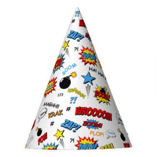 Superhero Party Hat - Word Art