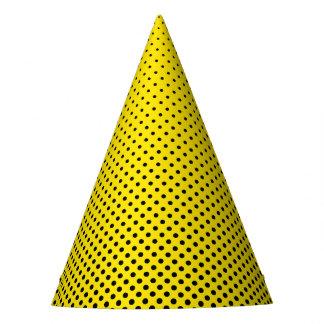 Superhero Party Hat - Yellow Black Dot