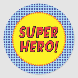 Superhero Party Sticker