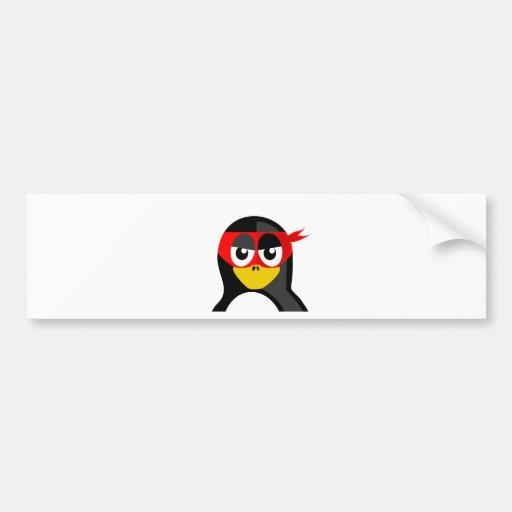 Superhero Penguin Bumper Stickers