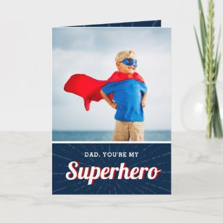 Superhero Personalised Father's Day Photo Card