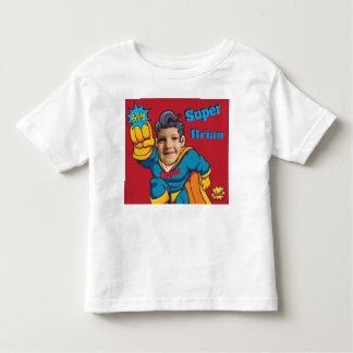 Superhero Personalized Action Photo Template Toddler T-Shirt