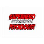 Superhero...Psychologist Post Card