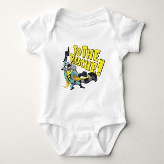 Superhero Racoon To The Rescue Baby Bodysuit