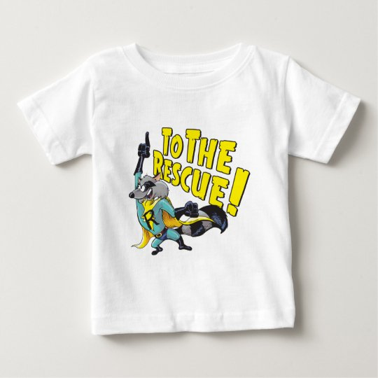 Superhero Racoon To The Rescue Baby T-Shirt