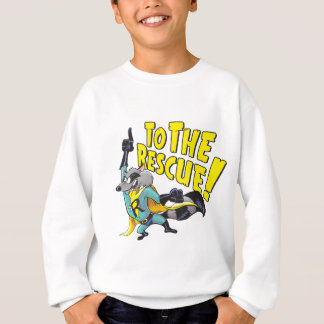 Superhero Racoon To The Rescue Sweatshirt