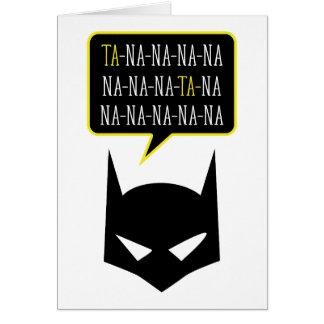 Superhero silhouette Greeting Card