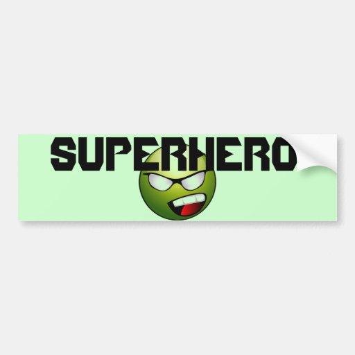 Superhero Smiley Bumper Sticker