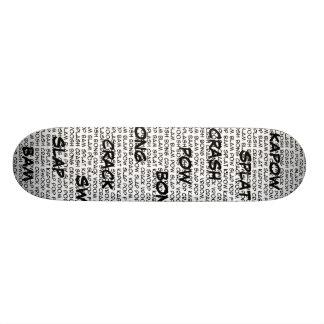 Superhero speak skateboard,... custom skate board