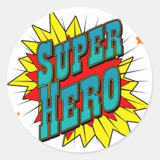 SuperHero Round Stickers