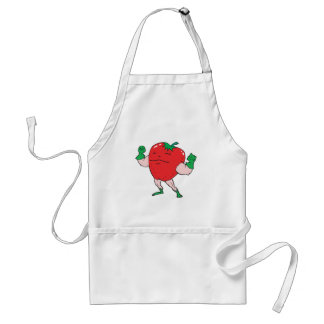 superhero strawberry cartoon character standard apron