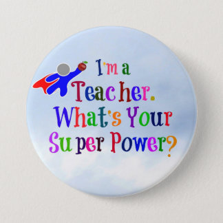 Superhero Teacher 7.5 Cm Round Badge
