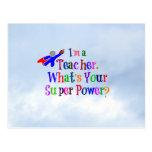 Superhero Teacher Postcard