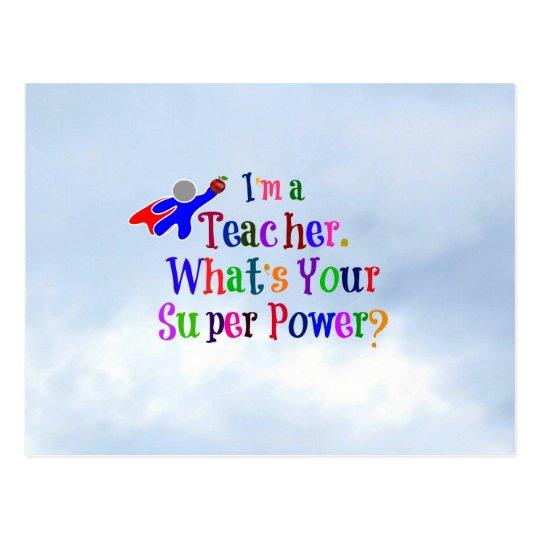 Superhero Teacher Postcard