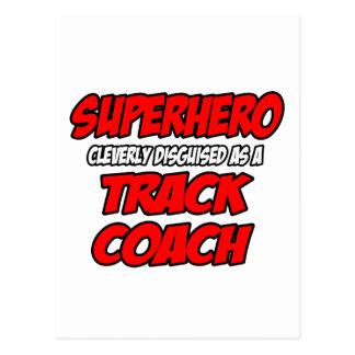 Superhero...Track Coach Postcard
