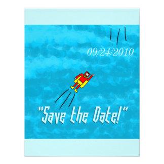 Superhero Wedding Save the Date Card - Blue Invitations