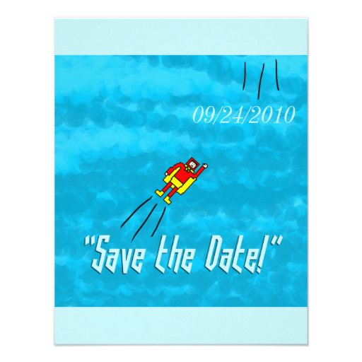 Superhero Wedding Save the Date Card - Blue Invitations