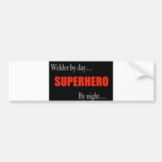 Superhero Welder Bumper Sticker