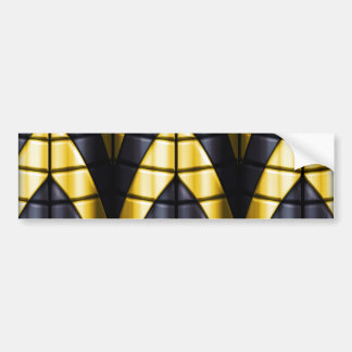 Superheroes - Black and Yellow Bumper Sticker