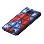 Superheroes - Blue, Red, White Stars Samsung Galaxy SII Cover