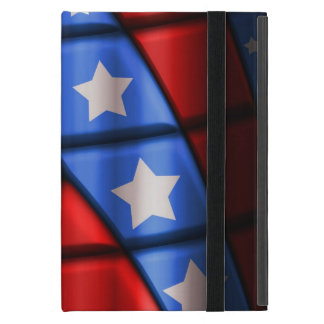 Superheroes - Blue, Red, White Stars iPad Mini Case