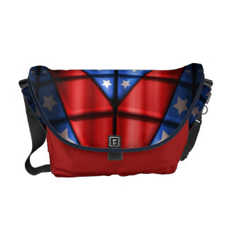 Superheroes - Blue Red White Stars Courier Bag