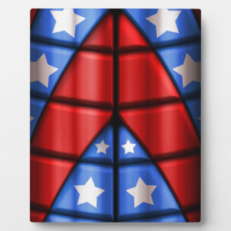 Superheroes - Blue, Red, White Stars Plaque