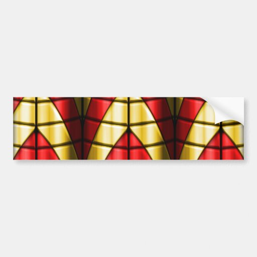Superheroes - Red and Gold Bumper Stickers