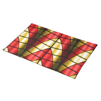 Superheroes - Red and Gold Place Mat