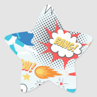 Superheroes Star Sticker