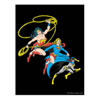 Superheroines Leap Postcard