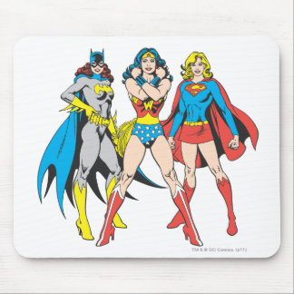 Superheroines Pose Mouse Mat