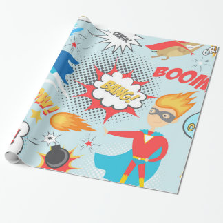 Superheros Wrapping Paper