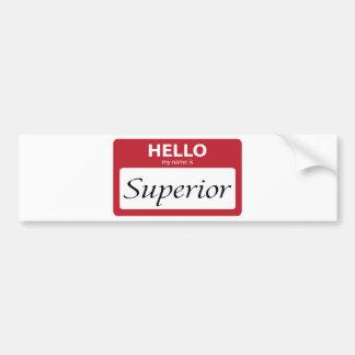 superior 001 bumper sticker