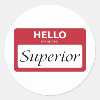 superior 001 round sticker