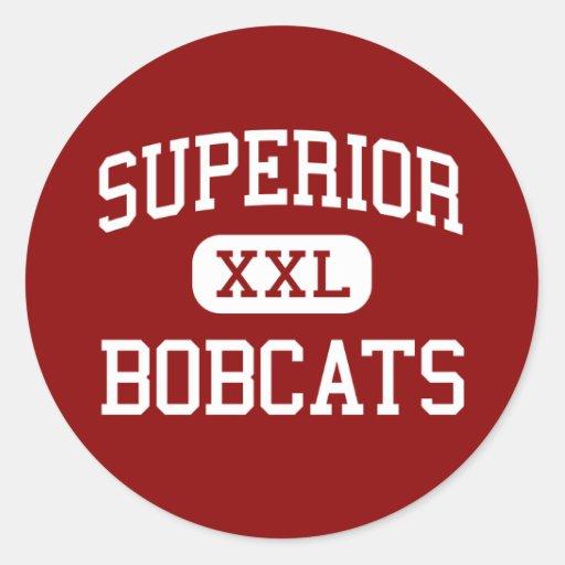 Superior - Bobcats - High - Superior Montana Round Stickers