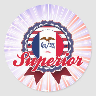 Superior, IA Round Sticker
