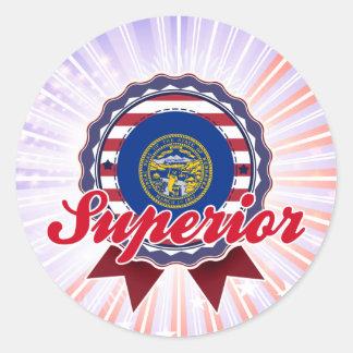 Superior, NE Round Stickers