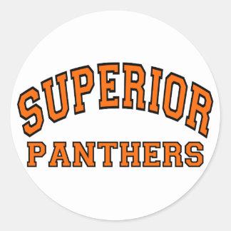 Superior Panthers Round Sticker