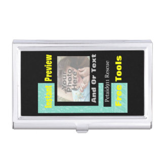 Superior photo business card holder