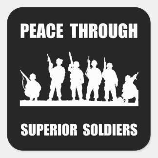 Superior Soldiers Square Sticker