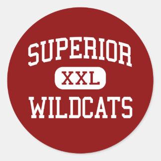 Superior - Wildcats - High - Superior Nebraska Round Sticker