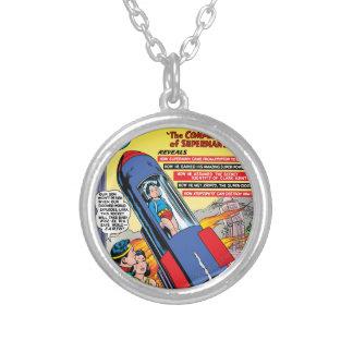 Superman #146 round pendant necklace
