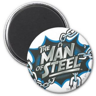 Superman 14 6 cm round magnet