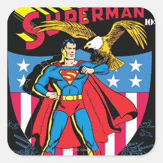 Superman 14 square sticker