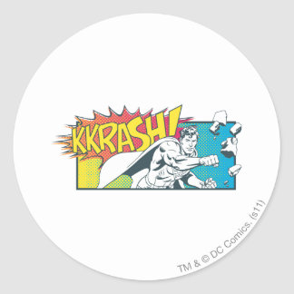 Superman 17 classic round sticker